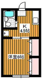 下赤塚駅 徒歩7分2階Fの間取り画像