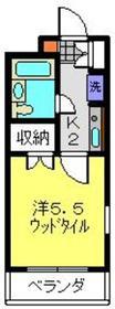 セザール第二鶴間1階Fの間取り画像