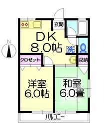 シティハイム ヤマネ2階Fの間取り画像