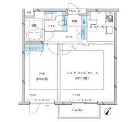 参宮橋マンション2階Fの間取り画像