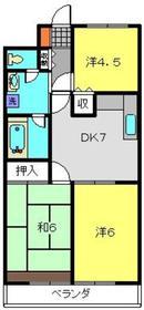 洋光台田中ビル3階Fの間取り画像