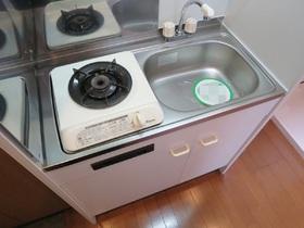 一口ガスコンロ設置済みのキッチン!