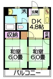 マイハイツピュア2階Fの間取り画像