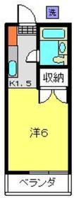 霞台ハイツ2階Fの間取り画像