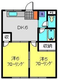 ハイツカオリ I1階Fの間取り画像