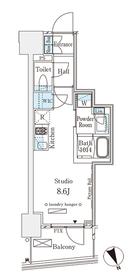 パークナードフィット南青山Vista4階Fの間取り画像