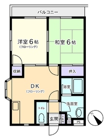 2階の中部屋です