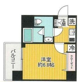 リクレイシア西横浜11階Fの間取り画像