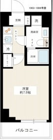 スパシエソリデ横浜鶴見10階Fの間取り画像