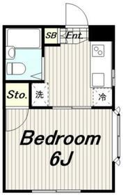 ハイムシーマ1階Fの間取り画像