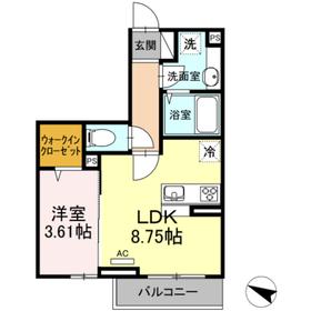 Maison de Vega2階Fの間取り画像