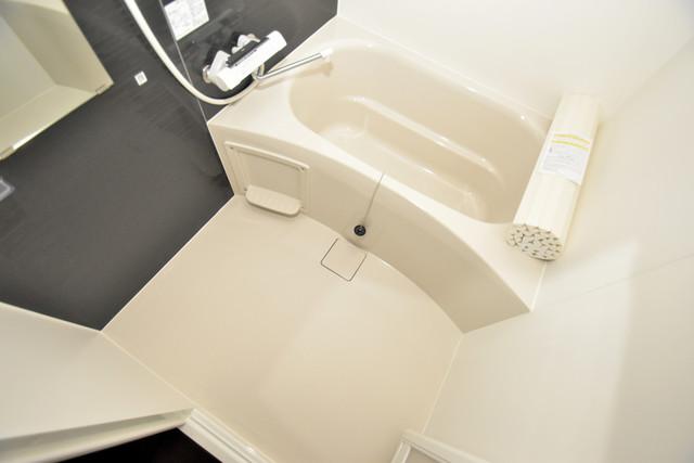 ラージヒル長瀬WEST ちょうどいいサイズのお風呂です。お掃除も楽にできますよ。