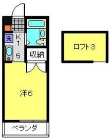 武蔵小杉駅 徒歩11分2階Fの間取り画像