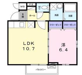 プリマローズコースト2階Fの間取り画像
