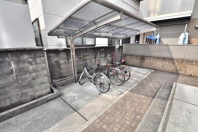 エントピア西堤C あなたの大事な自転車も安心してとめることができますね。