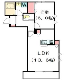 バッシー ノイエ2階Fの間取り画像
