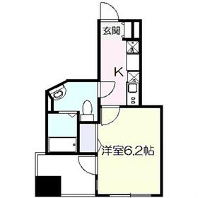 CREA T&T7階Fの間取り画像