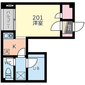 キミシゲビル2階Fの間取り画像