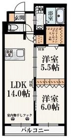 (仮称)東恋ヶ窪2丁目メゾン3階Fの間取り画像