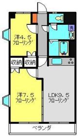 フローラマンション氷川2階Fの間取り画像