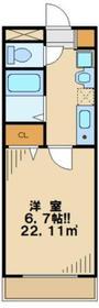 プリマベーラ1階Fの間取り画像