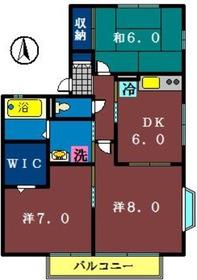 アークヒルズI2階Fの間取り画像