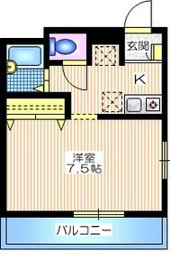 パークビュー西横浜1階Fの間取り画像