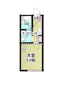 アーク川崎B棟2階Fの間取り画像