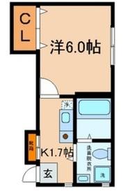 リバーサイドハイツI1階Fの間取り画像