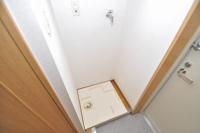 プリムヴェール 洗濯機置場が室内にあると本当に助かりますよね。