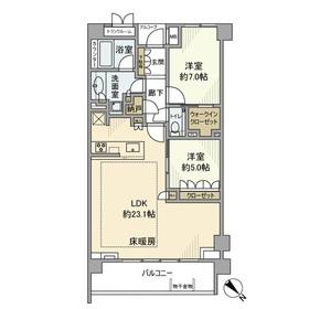 ザ・パークハウス目黒三丁目2階Fの間取り画像