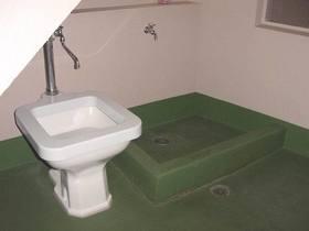 ペット用のトイレと足洗い場