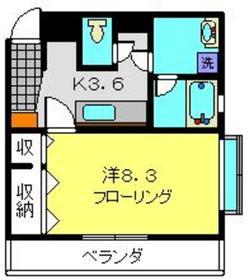 リジエール2階Fの間取り画像