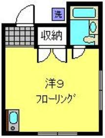 コーポカワシマ1階Fの間取り画像