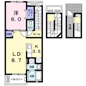 ヴィラセナーレ3階Fの間取り画像
