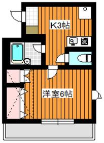 ルーチェブレス赤塚2階Fの間取り画像