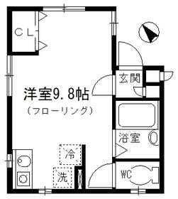 ドメーヌⅡ1階Fの間取り画像