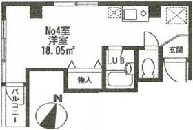 メナー百合丘4階Fの間取り画像