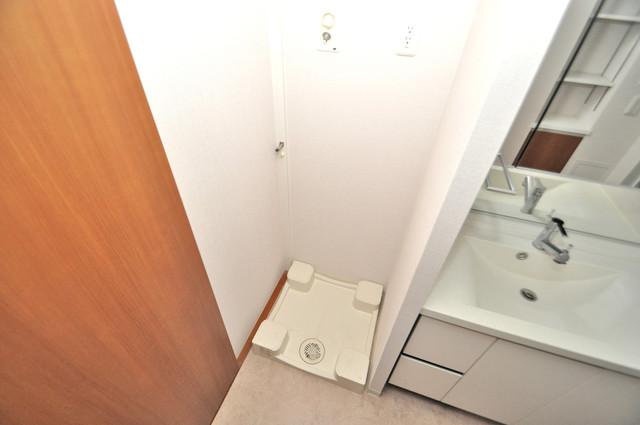 ヴェリテ永和駅前 洗濯機置場が室内にあると本当に助かりますよね。