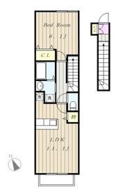 ボナールソフィア2階Fの間取り画像