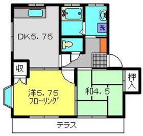 メゾフラットA2階Fの間取り画像
