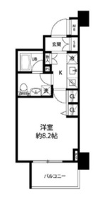 小伝馬町駅 徒歩5分6階Fの間取り画像