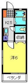 サン・ラピス壱番館1階Fの間取り画像