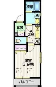CLAVIS大森西3階Fの間取り画像