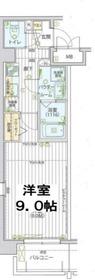レグラス横浜吉野町サウス5階Fの間取り画像