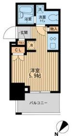 レジディア川崎9階Fの間取り画像