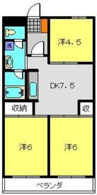 アビタシオン東寺尾4階Fの間取り画像