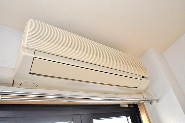 ロンモンターニュ小阪 エアコンが最初からついているなんて、本当にうれしい限りです。