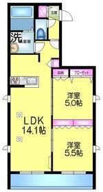 (仮称)浅草3丁目メゾン4階Fの間取り画像
