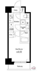 ハーモニーレジデンス武蔵小杉#0021階Fの間取り画像